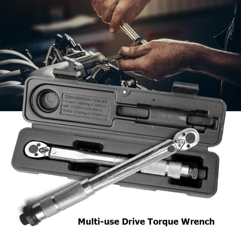 1/4 inch Adjustable Micrometer Torque Wrench Hand Tools Auto Repair Multi use Drive Torque Ratchet Wrench Repair Hand Spanner