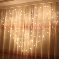 Heart shaped Led Fairy String Curtain Light 2m*1.5m 124 Leds Valentine Xmas Christmas Light Wedding Party Window Garland Decor