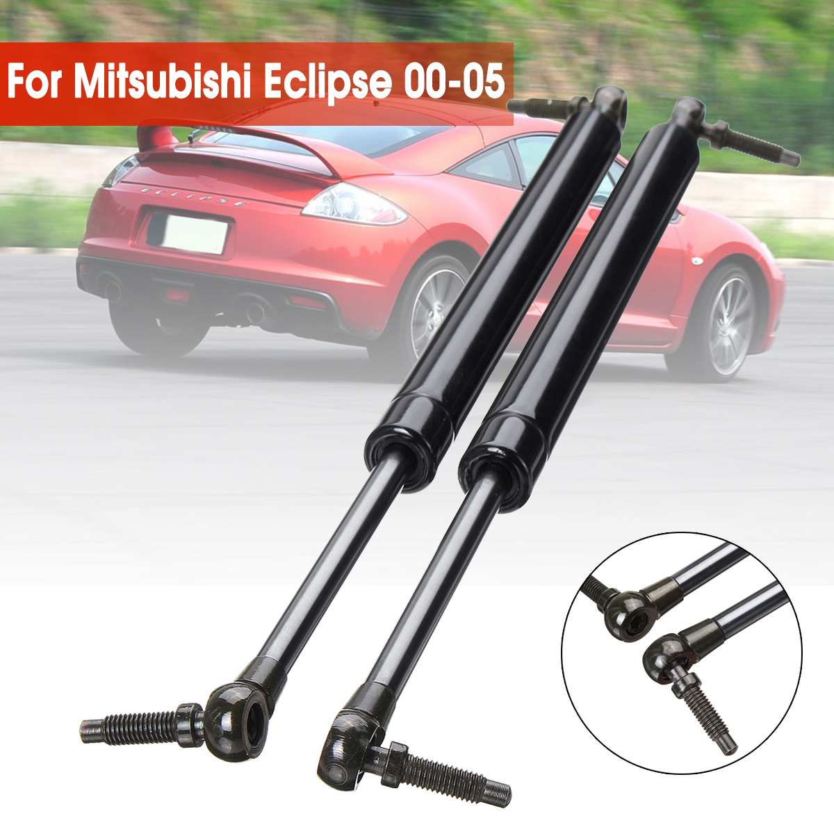 1Pair Car Auto Rear Trunk Gas Charged Spring Lift Supports Props Rod Arm Shocks Rear Tailgate Boot Strut For Mitsubishi Eclipse