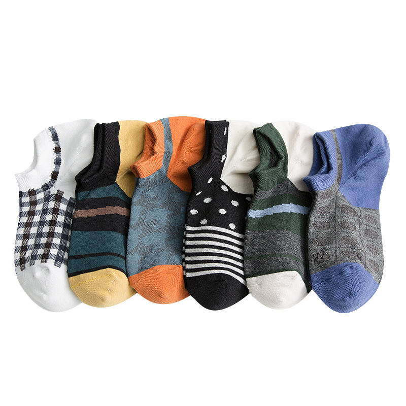 PEONFLY 1pairs Crew Socks Men High Quality Brand Summer Cotton Casual Short Funny Ankle Sock Slippers Harajuku
