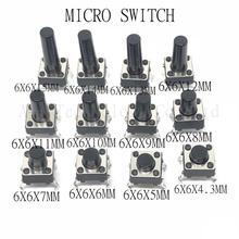 Tact Switches Push-Button Micro 4pin 10mm 20PCS 11mm 9mm 8mm 5mm 7mm 6mm 14/15-Mm 6--6