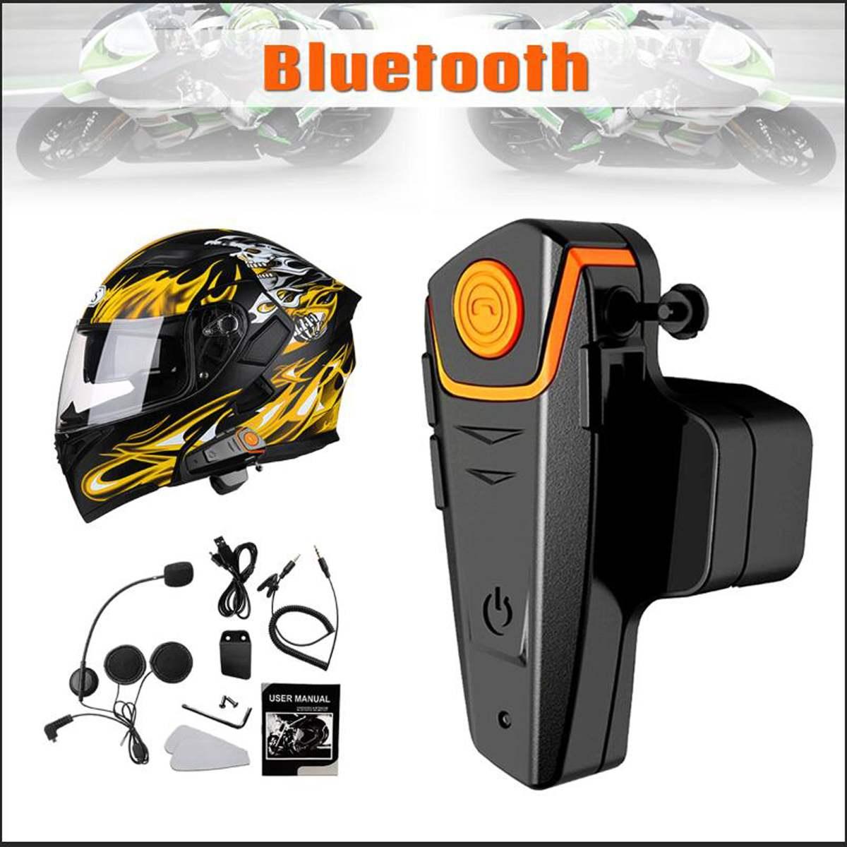 Bluetooth Interphone 1000 m casque de Moto casques pour 3 cavalier BT sans fil talkie-walkie Moto stéréo Interphone MP3 GPS FM