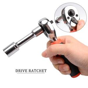 Image 4 - 45 個ドライブソケットセット可逆ラチェットレンチメトリックとインチ sae ソケット精度の家庭用修理ハンドツール