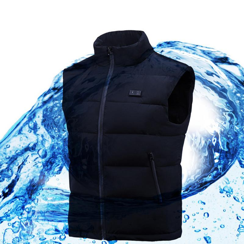 Intelligent Thermostat Electric Vest Men And Women Heated Vest USB Heated Clothes Charging Warm Vest Electric Vest-in Hiking Vests from Sports & Entertainment    1