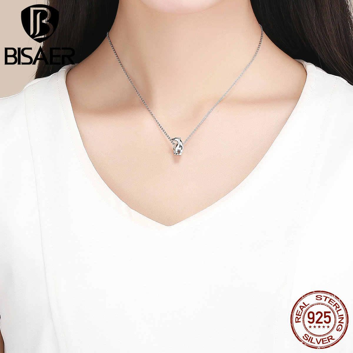 BISAER, Настоящее серебро 100% 925 пробы, высокое качество, полярный медведь, Очаровательные Подвески, оригинальный 925 серебряный браслет, ювелирное изделие HVC058