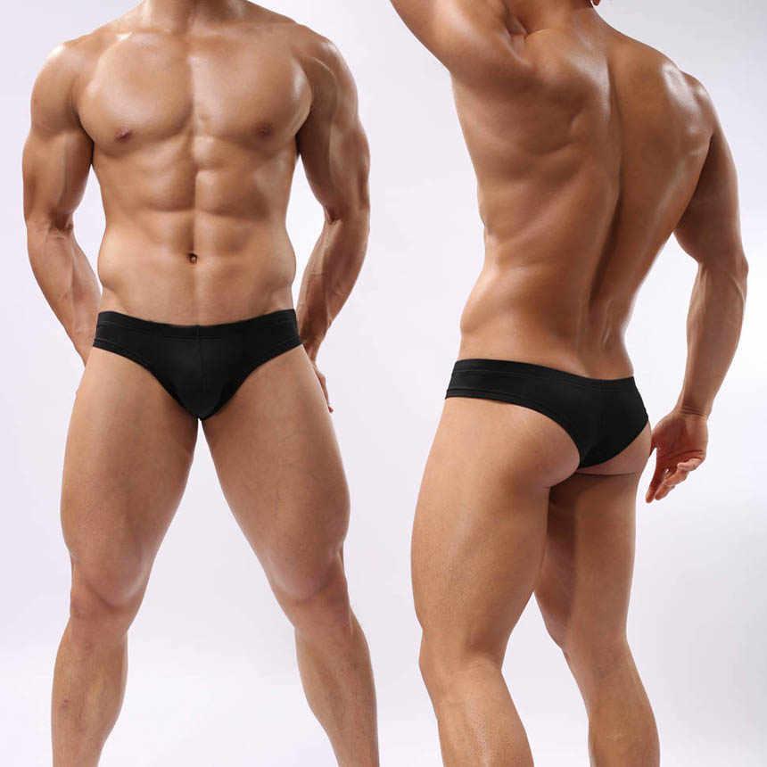 Men s Bikini Boxer Stretchy Underwear Guys Comfy Skimpy Bottoms 3 4  Coverage Shorts Dry Fit 6788880885e8