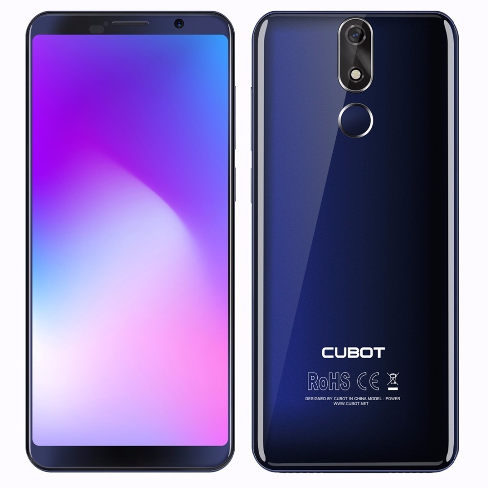 """Cubot Power 4G Smartphone 6000mAh Android 8.1 6GB +128GB 5.99"""" Cell Phones MT6760 Octa Core Fingerprint ID 16.0mp Mobile Phone"""