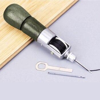 Leder Handwerk Werkzeug Super Carving Wachs Linie Hand Made Leder Werkzeuge Kunst Nadel Nähen Maschine 133mm Heißer Verkauf