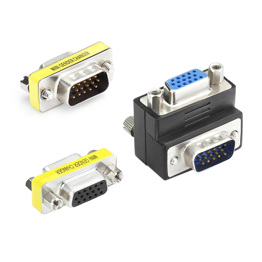 Подключи и играй VGA к VGA адаптер мужчин и мужчин HD15 Pin VGA пол чейнджер конвертер для ноутбука компьютер проекторы HDTV