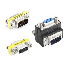 Plug and Play VGA do Adapter VGA złącze męskie do żeńskiego HD15 VGender zmieniacz konwerter do laptopa PC SVGA łącznik