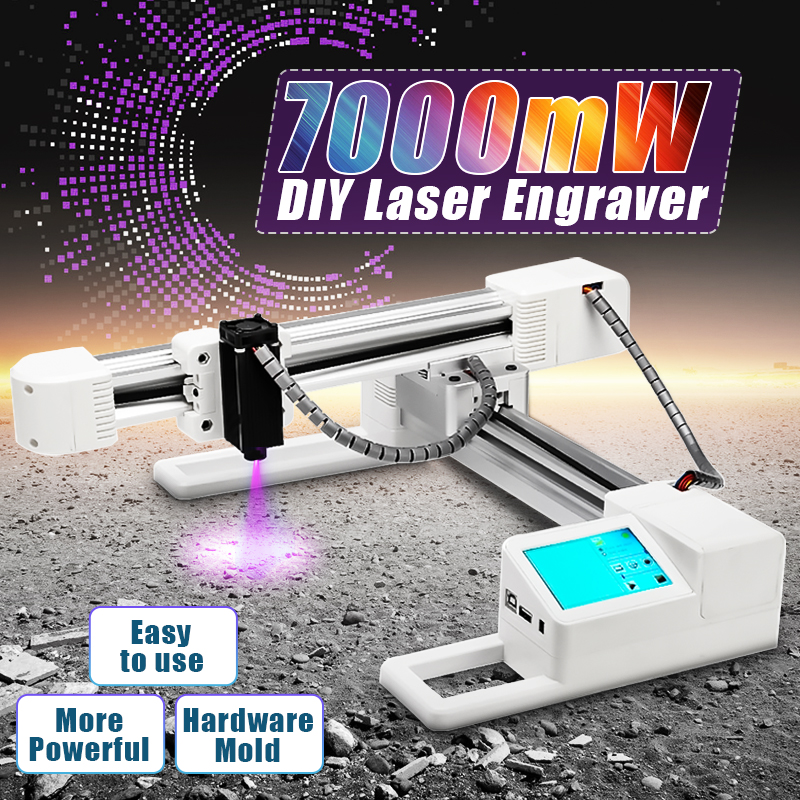 7000mW DIY Logo Mark Printer Computer Laser Engraver Stainless Steel Laser Cutter Marking Machine For Windows-97/03/7/8/10