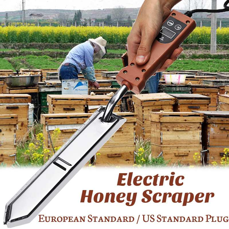Durable Electric Honey Knife Bee Beekeeping Equipment Electric Heating Handle Wooden Tools Honey Scraper EU/US plugDurable Electric Honey Knife Bee Beekeeping Equipment Electric Heating Handle Wooden Tools Honey Scraper EU/US plug