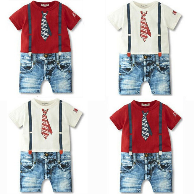 NEW Kids Baby Boys Clothes Overalls Costume Suit Grow Outfit Romper Pants 3-24M