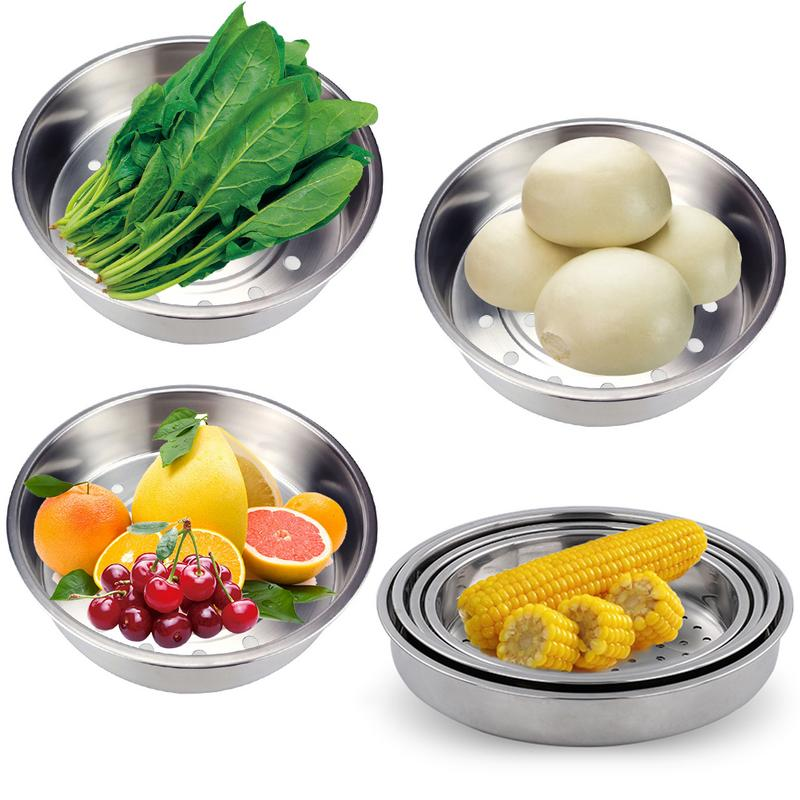 304 Stainless Steel Steamer Household Thickening Rice Cooker Steaming Basket Steaming Basket Vegetable And Fruit Drain Basket
