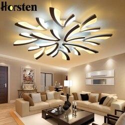 Akrylowe nowoczesne lampy sufitowe Led do salonu sypialnia jadalnia lampa sufitowa do domu oświetlenie ściemniania oprawy oświetlenia sufitowego