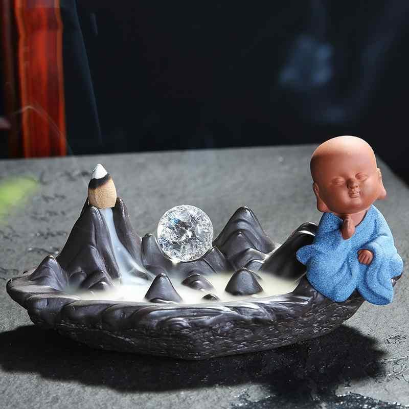 Татхагата Будда благовония держатель для Рожков керамическая курильница для благовоний горелка курильница Quemador Incienso + 10 шт. конусы благовония домашний декор