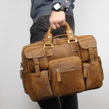 Business Briefcase Male Genuine Leather Men's Bag 733-40 Eur