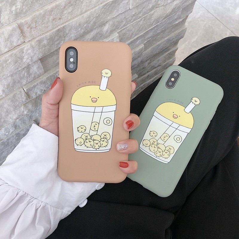 Soft Silicone Phone <font><b>Case</b></font> For <font><b>iPhone</b></font> XS Max XR X <font><b>6</b></font> 6s 7 8 Plus Back Cover Fashion Cute <font><b>Chicken</b></font> Cup Cartoon Shell <font><b>Case</b></font> for iPhoneX image