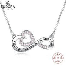 Юдора стерлингового серебра 925 Розовый cz бесконечной любви