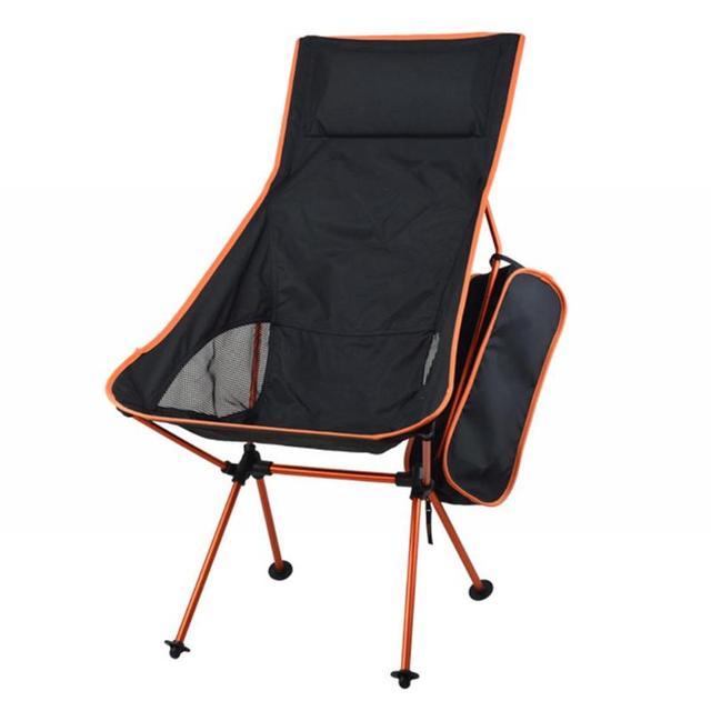 Przenośne składane krzesło ogrodowe lekkie wędkowanie Camping piesze wycieczki ogrodnictwo stołek krzesło plażowe na zewnątrz grill z torbą