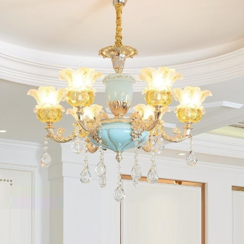 Decoracao Casa Loft Chambre Fille Led Nordic Crystal Luminaria Lustre E Pendente Para Sala De Jantar Deco Maison Hanging Lamp in Pendant Lights from Lights Lighting