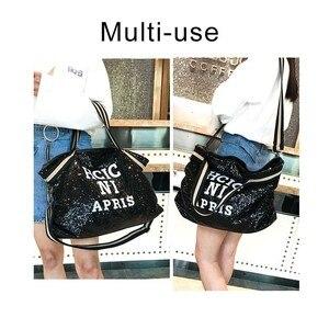Image 2 - Herald Fashion sac à main Sequin femmes, sac grande capacité, fourre tout à poignée supérieure, sac à bandoulière Shopping, décontracté