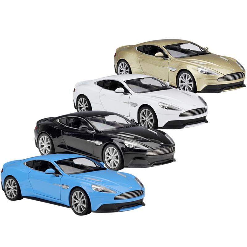 1:24 Aston Martin Welly Collection Children Car Model Gifts Toys Vanquish Die Casting Model Sports Car