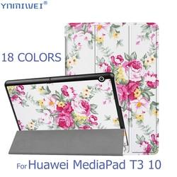 Флип-чехол для Huawei MediaPad T3 10, тонкий чехол для планшета Huawei T3 9,6, Honor Play Pad 2, чехол AGS-L09 AGS-L03 W09