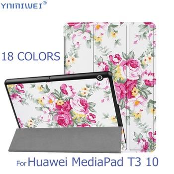 Etui z klapką do Huawei MediaPad T3 10 stojak na tablet Slim etui na Huawei T3 9.6 Honor Play Pad 2 obudowa funda AGS-L09 AGS-L03 W09