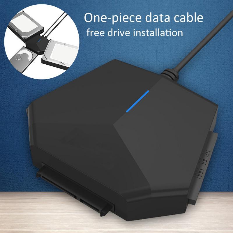 Universel 2.5 3.5 en IDE adaptateur de disque dur SATA vers USB3.0 câble convertisseur
