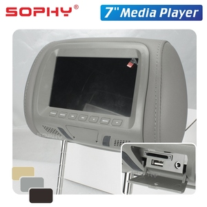 Image 5 - 2 個 7 インチ車のヘッドレストモニター LED デジタル画面枕モニターと MP4 MP5 プレーヤー USB SD 後部座席エンターテイメント SH7048 P5