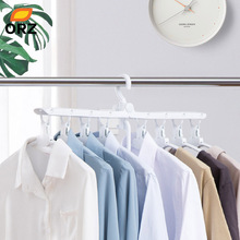 ORZ 8 in 1 Foldable Clothes Hanger Drying Rack Wardrobe Closet Storage Organizer Clothes Hangers Storage Holder Rack 128x43x165cm portable wardrobe clothes closet rack storage organizer home diy clothes rack