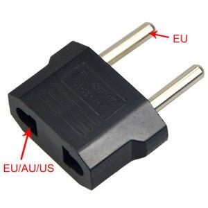 Image 2 - 5 pièces adaptateur de prise prises de Conversion adaptateur ue à ue/AU/US adaptateur de voyage prise électrique cordon dalimentation chargeur prises de courant