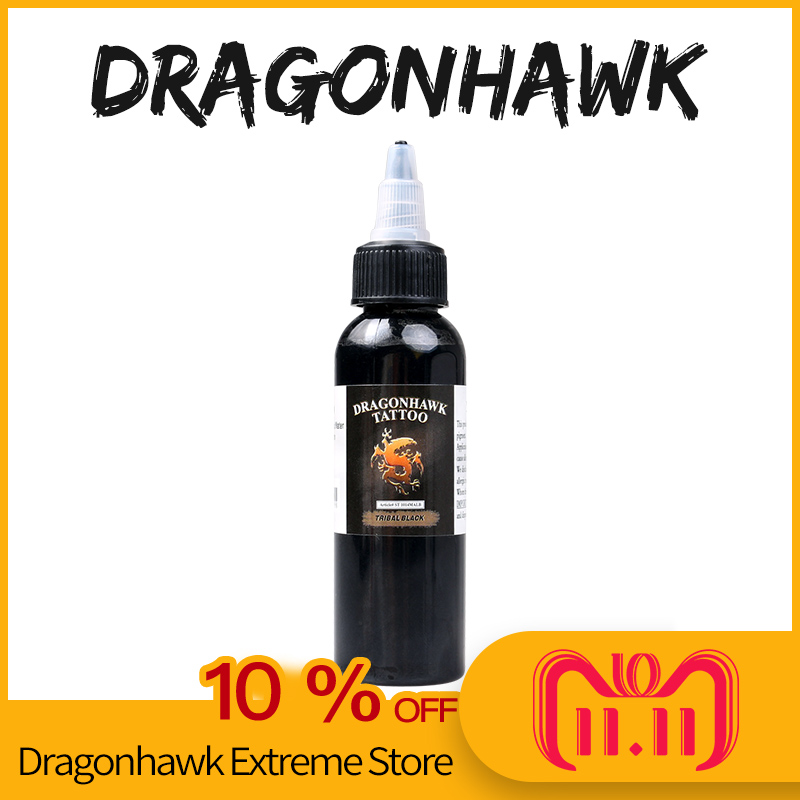 Tattoo supply Dragonhawk ink 2 OZ black 60ml fast free shipping SL048 60ml