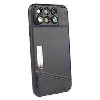 Pholes 6 In 1 Phone Lens Case For Iphone X Dual 2X Telephoto+10X Macro+20X Macro+120 Degree Wide Angle+180 Degree Fisheye Lens