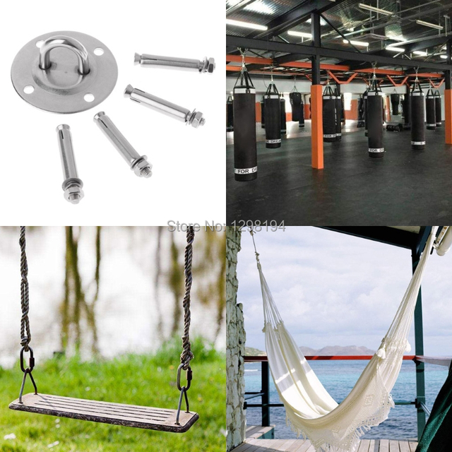 Ceiling Wall Mount Anchor Suspension Bracket Hook For Gym Rings Crossfit Yoga Hammock Swing Hanging Chair 1