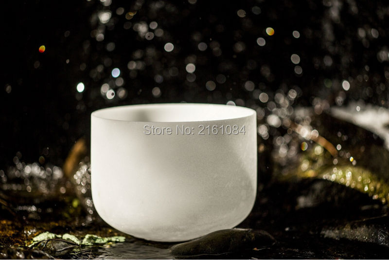 14 G# Zeal Chakra Quartz Crystal Singing Bowl with free suede and o ring