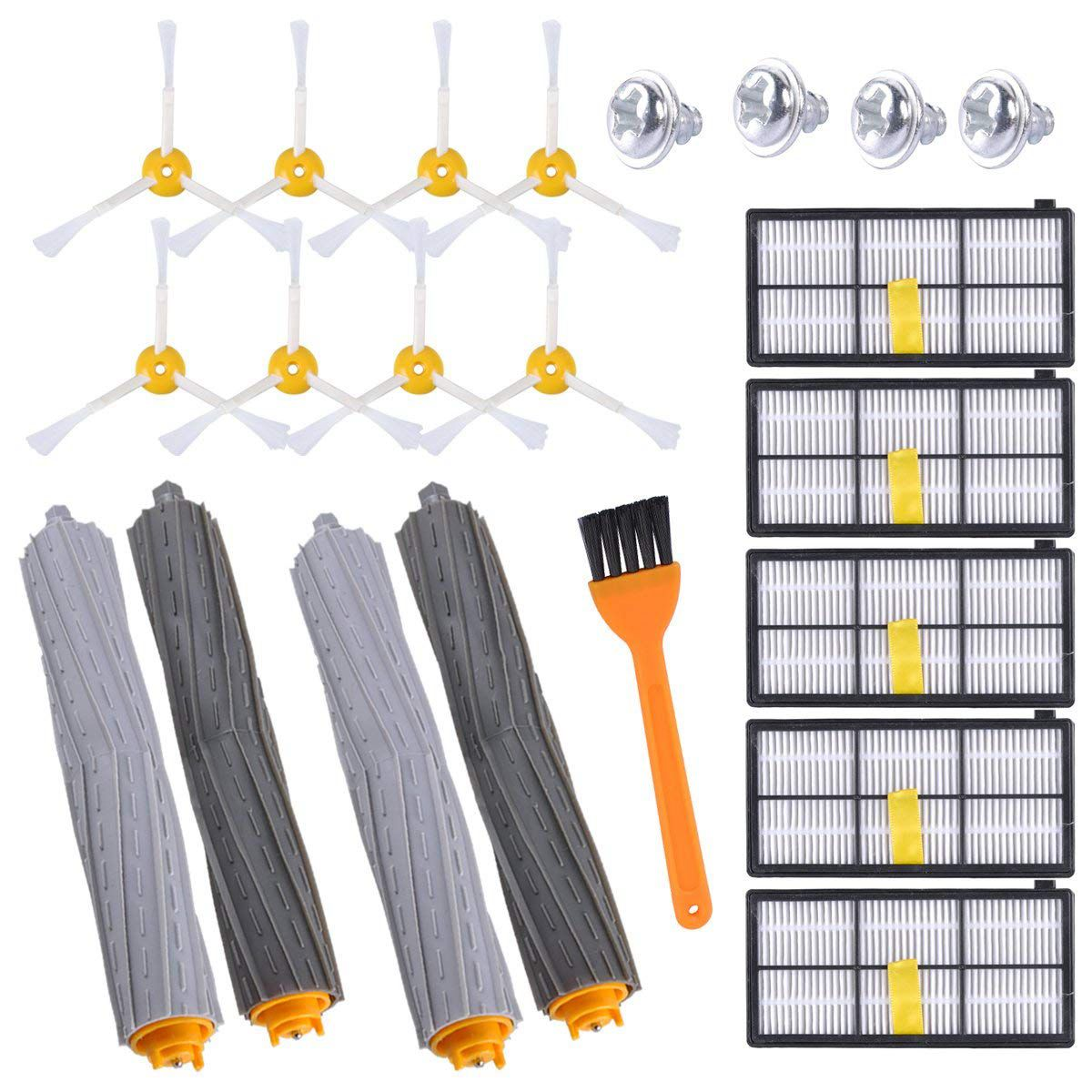 15PCS Replacement Parts for iRobot Roomba 800 & 900 Series 980 960 890 Robotic Vacuum, Replenishment Kit with 5 Hepa Filters,