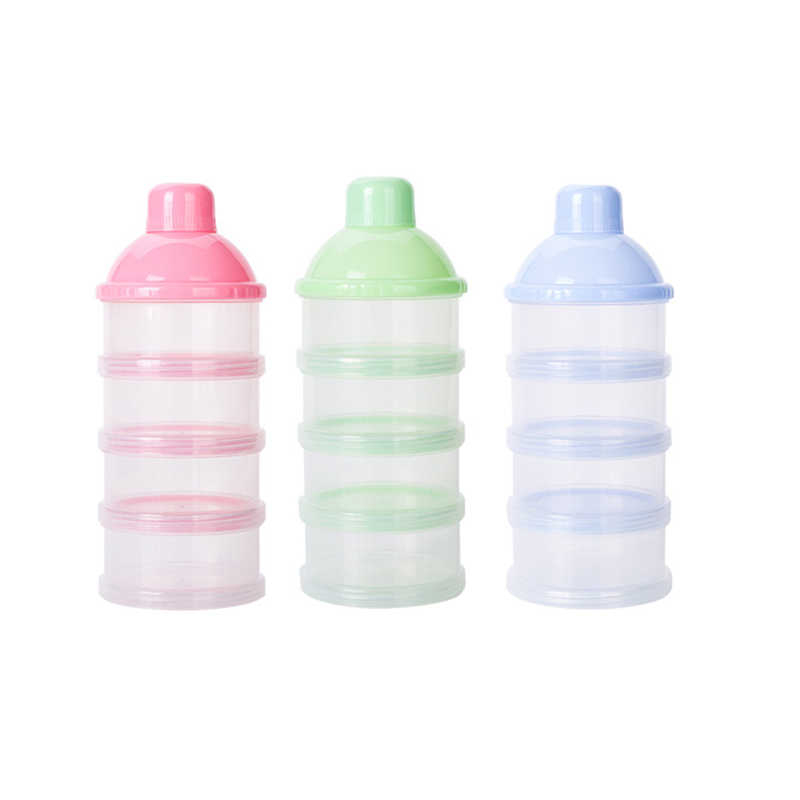 Portable Four Layers Infant Milk Powder Container Newborn Baby Feeding Food Bottle Moistureproof Snack Storage Box