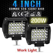 BEESCLOVER 200 Вт светодиодный бар 4 дюйма светодиодный светильник бар рабочий светильник для вождения по бездорожью Лодка автомобиль тягач