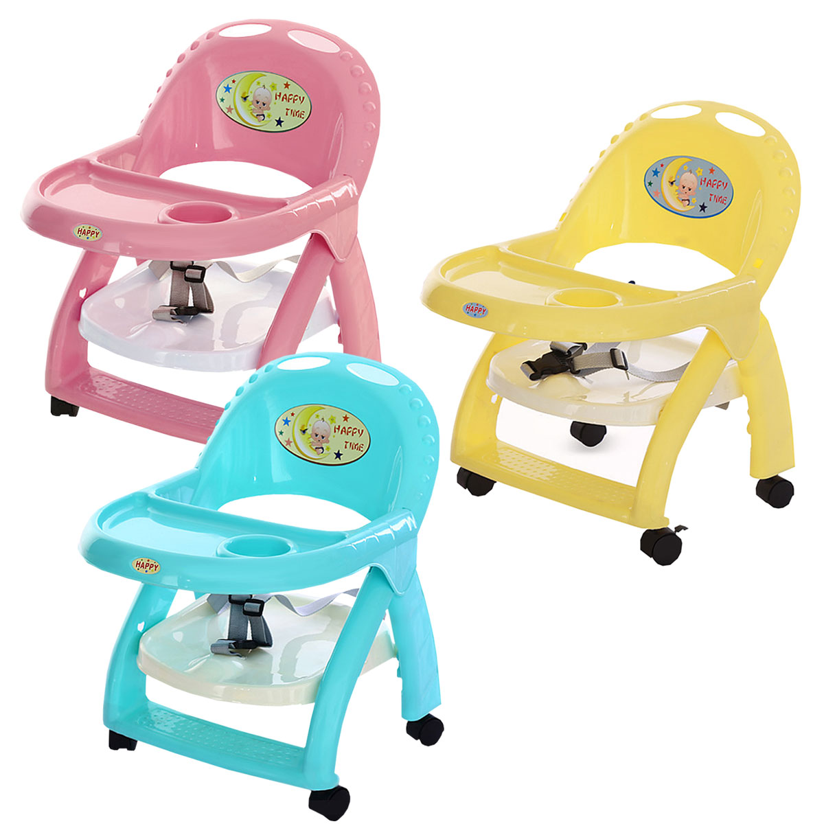 Fantastic Us 30 11 51 Off Baby Eating Feeding Table Seat Toddler Portable Booster Chair Foldable Adjustable Height Walker Rotary Wheels In Booster Seats From Bralicious Painted Fabric Chair Ideas Braliciousco