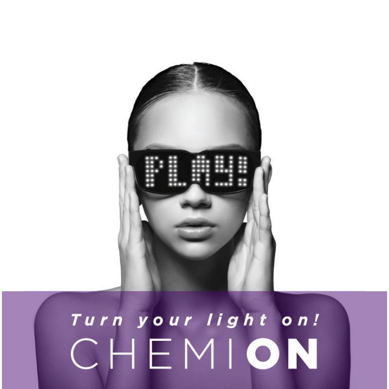 CHEMION Bluetooth LED Glasses Special Atmosphere Sunglasses Dynamic Glowing Light for Nightclub Festival Party Birthday