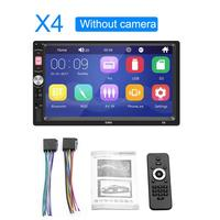 Car Player Mp5 Bluetooth Touch Screen Stereo Radio Camera Supports Android IOS System MirrorLink