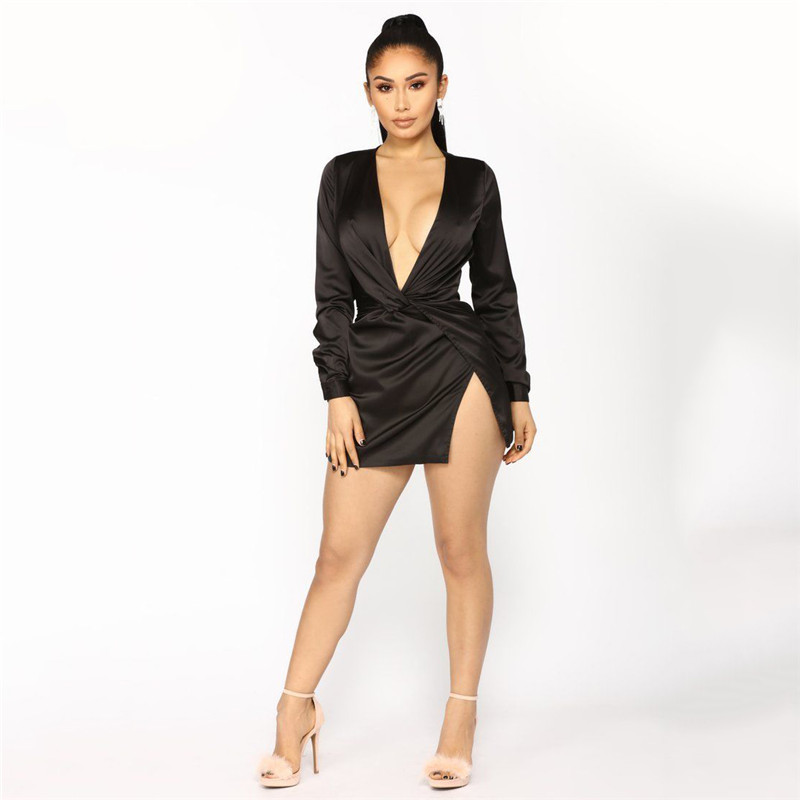 Super Simple Dress With A Deep V Neck Laced Over A