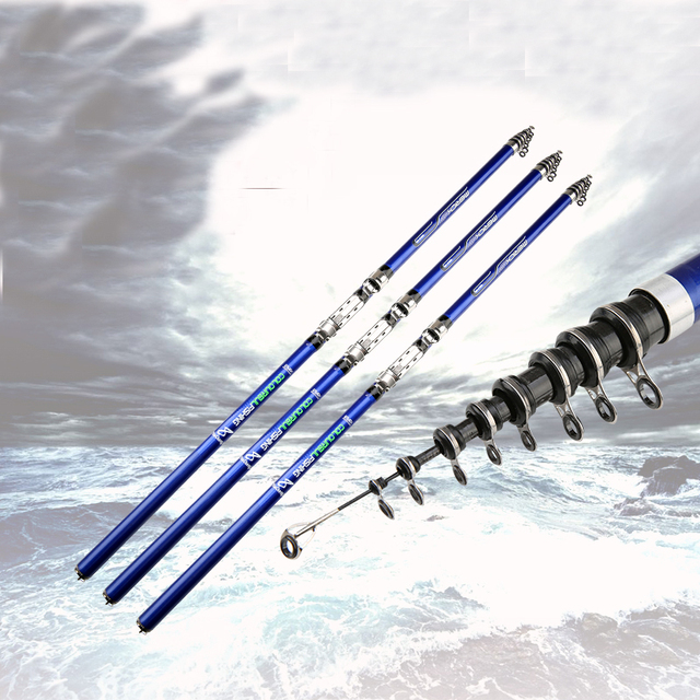 Carbon Fiber Spinning Telescopic Rock Fishing Rod.