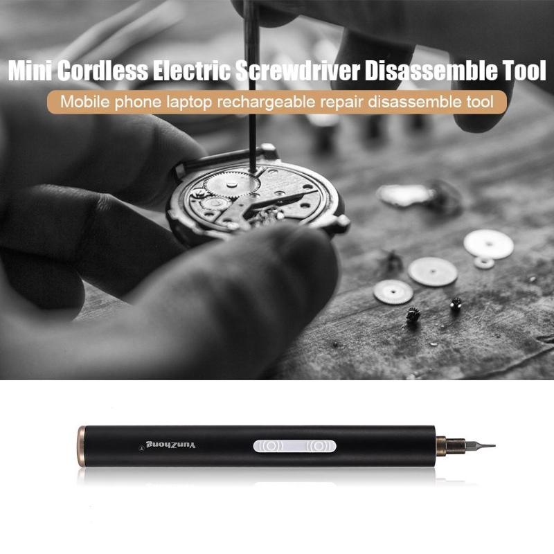 Mini Electric Screwdriver Rechargeable Cordless Power Screw Driver Kit Computer Mobile Phone Repair Tool in Electric Screwdrivers from Tools