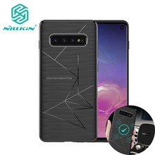 Magnet Phone Case For Samsung Galaxy S10 S10 PLUS Support wireless charging Nillkin Magic case Samsung S10 Magnetic Holder cover