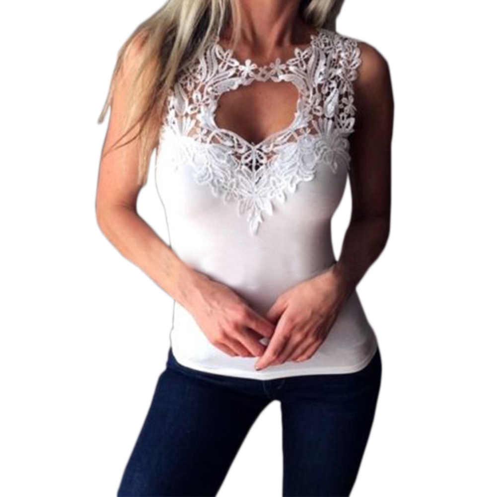 Летний женский топ на бретелях, повседневные белые топы с v-образным вырезом, женские сексуальные кружевные лоскутные пляжные топы, Женский топик, открытая женская блузка