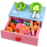 22 Pcs Wooden Kids House Simulation Kitchen Play House Toys Cooking Cookware Children Pretend Play Kitchen Playset