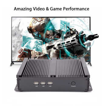 Fanless Industrial PC,Mini Computer,Windows 10,Intel Core I3 4005U,[HUNSN MA04I],(Dual WiFi/VGA/HD/3USB2.0/4USB3.0/LAN/2COM)